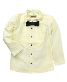 The KidShop Tuxedo Shirt With A Classy Bow - Yellow