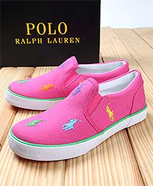 Polo Ralph Lauren Bal Harbour Repeat Canvas  Shoes - Fuchsia