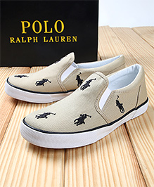 Polo Ralph Lauren Bal Harbour Repeat Canvas  Shoes - Khaki
