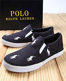 Polo Ralph Lauren Bal Harbour Repeat Canvas  Shoes - Navy