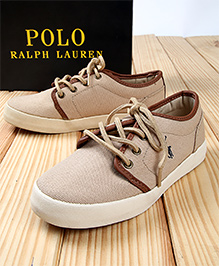 Polo Ralph Lauren Ethan Low Canvas Lace Shoes - Khaki