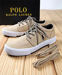 Polo Ralph Lauren Faxon II Canvas Shoes - Khaki Navy