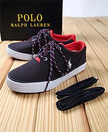 Polo Ralph Lauren Vaughn II Canvas Shoes - Navy Red