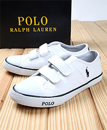 Polo Ralph Lauren Canvas Sneakers - White