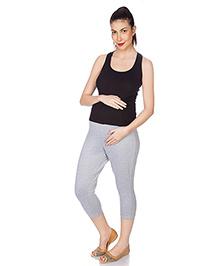 Goldstroms Maternity Capri Plain - Melange Grey