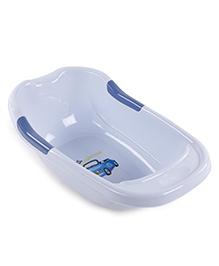 Baby Bath Tub Car Print - Sky Blue