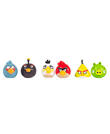Angry Birds Figurine Combo Of 3 Pack Of 2 - Multi Color