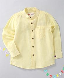 Holy Brats Linen Shirt - Lemon