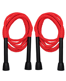 GSI Pair Of Skipping Ropes For Cardio And Fitness - Red