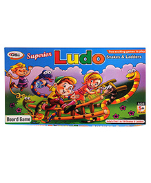 GSI Special Ludo Snake And Ladders Kids Board Game - Multicolor
