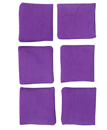 GSI Pack Of 4 Fleece Toss Bean Bags For Activity Games And Primary Education - Purple