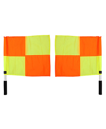 GSI Pair Of Checkbox Refree Linesman Flag - Multicolor