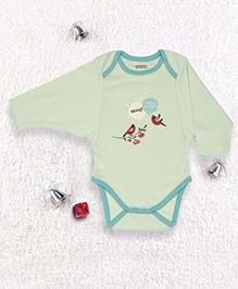 Pranava Kimono Sleeve Organic Cotton Onesie - Aqua Green