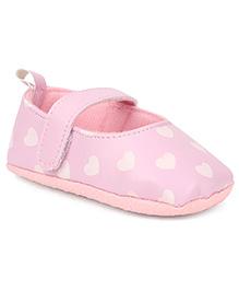 Disney Booties Hearts Print - Pink
