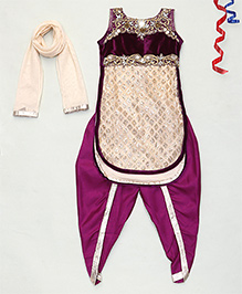 Party Princess Fancy Churidar Dupatta - Purple