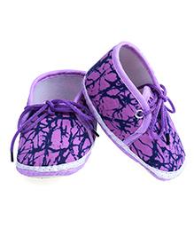 Soft Tots Cloudfoam Freehand Brush Paint Booties - Purple