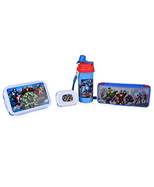 Disney Avengers Assemble School Lunchbox Set With Pencil Box - Red And Blue