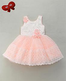 Enfance Beautifully Designed Party Wear Dress - Peach
