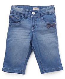 Gini & Jony Pedal Pushers Shorts Stone Wash - Light Blue