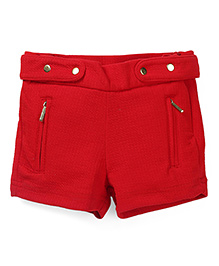Gini & Jony Shorts With Zippered Pockets - Tomato Red