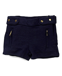 Gini & Jony Shorts With Zippered Pockets - Navy
