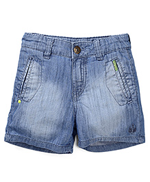Gini & Jony Stone Washed Denim Shorts - Blue