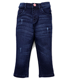 Gini & Jony Full Length Denim Jeans - Dark Blue