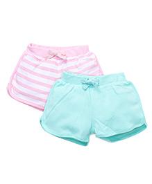 Gini & Jony Shorts Pack Of 2 - Pink Green