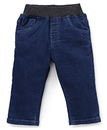 Gini & Jony Pull On Jeans - Dark Blue