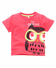 Spark Half Sleeves T-Shirt Printed - Carrot Pink