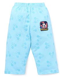 Bodycare Three Fourth Leggings Mickey Print - Blue