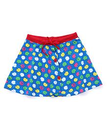 Bodycare Divider Skirt All Over Fruit Print - Blue