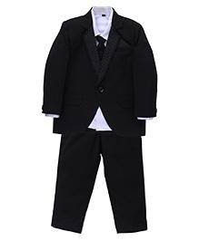 Robo Fry 4 Piece Party Suit With Tie - Black