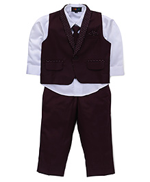 Robo Fry Party Suit With Tie - Maroon