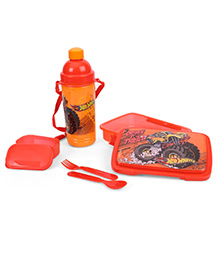 Hot Wheels Lunch Box With Sipper Bottle - Orange