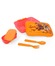 Tom And Jerry Lunch Box With Spoon And Fork - Orange
