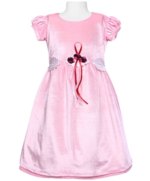 Bambini - Short Sleeves Party Wear Frock