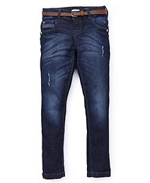 Gini & Jony DX Wash Jeans With Belt - Blue
