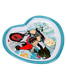Ben 10 Heart Shaped Plate - Multicolour