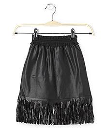 Cubmarks Fringed Bottom Skirt - Black