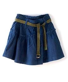Cubmarks  Divider Skirt With Belt - Blue