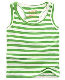 Pre Order - Awabox Sleeveless Stripe T-Shirt - Green