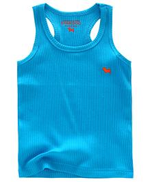 Pre Order - Awabox Plain Sleeveless T-Shirt - Blue
