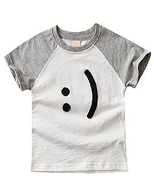 Pre Order - Awabox Smile Happy Print T-Shirt - White