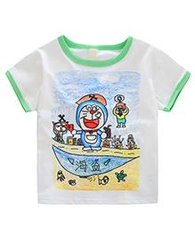 Pre Order - Awabox Crayon Paint Print T-Shirt - Green