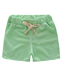 Pre Order - Awabox Plain Casual Shorts For Summers - Green