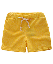 Pre Order - Awabox Plain Casual Shorts For Summers - Yellow