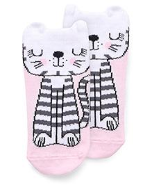 Mustang Anti Skid Socks Animal Design - Pink