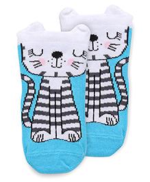 Mustang Anti Skid Socks Animal Design - Blue
