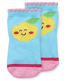 Mustang Anti Skid Fruit Design Socks - Blue